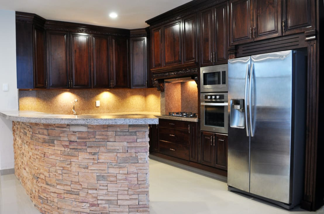 15 cocinas integrales de madera que te podr hacer el for Cocinas integrales de madera