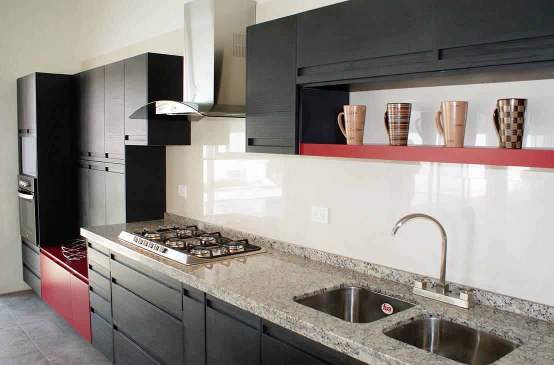 20 cocinas modernas con encimeras de m rmol y granito for Marmol gris veteado