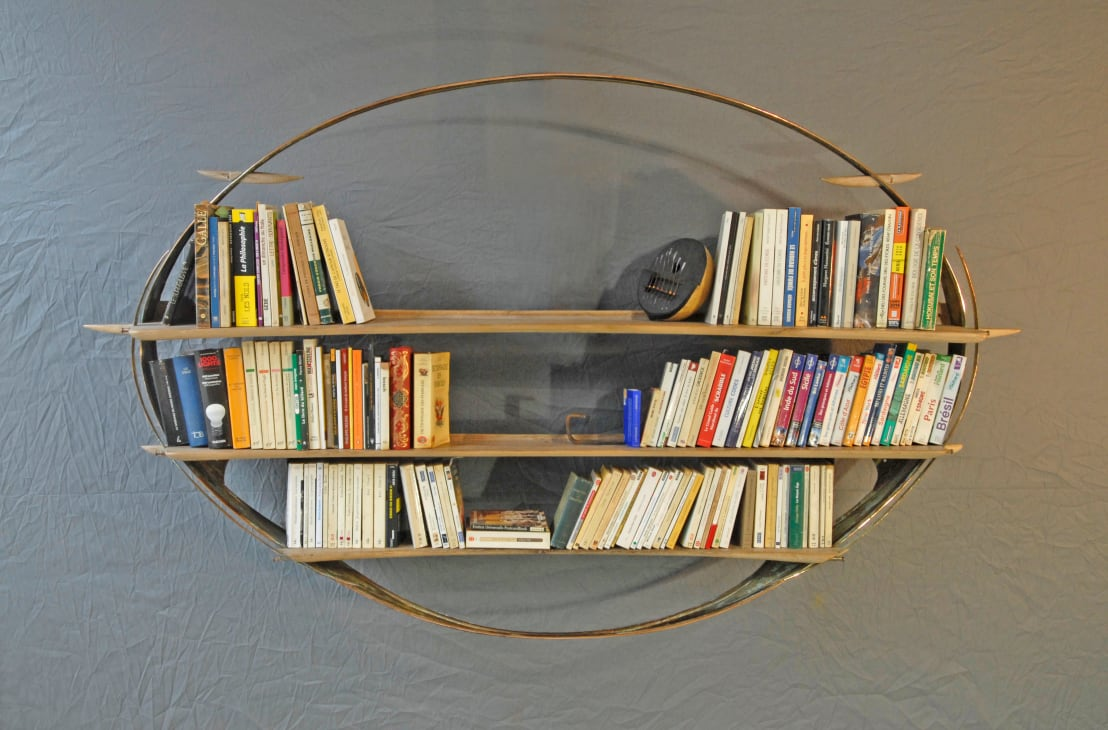 Biblioth que ellipse n 7 elliptic book case 7 by jean for Homify case