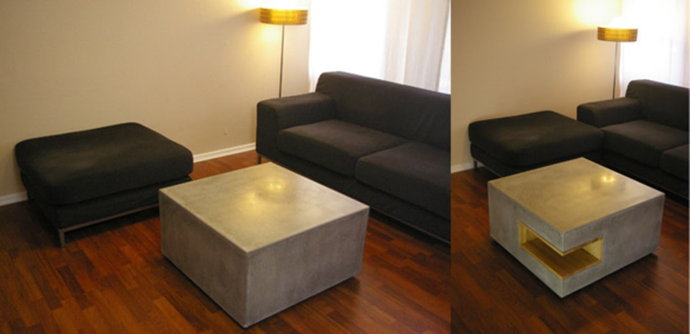 beton couchtisch 80 x 80 de betonwerkstatt homify. Black Bedroom Furniture Sets. Home Design Ideas
