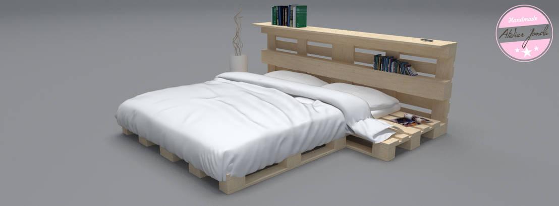 bett aus paletten por agentur jonda homify. Black Bedroom Furniture Sets. Home Design Ideas