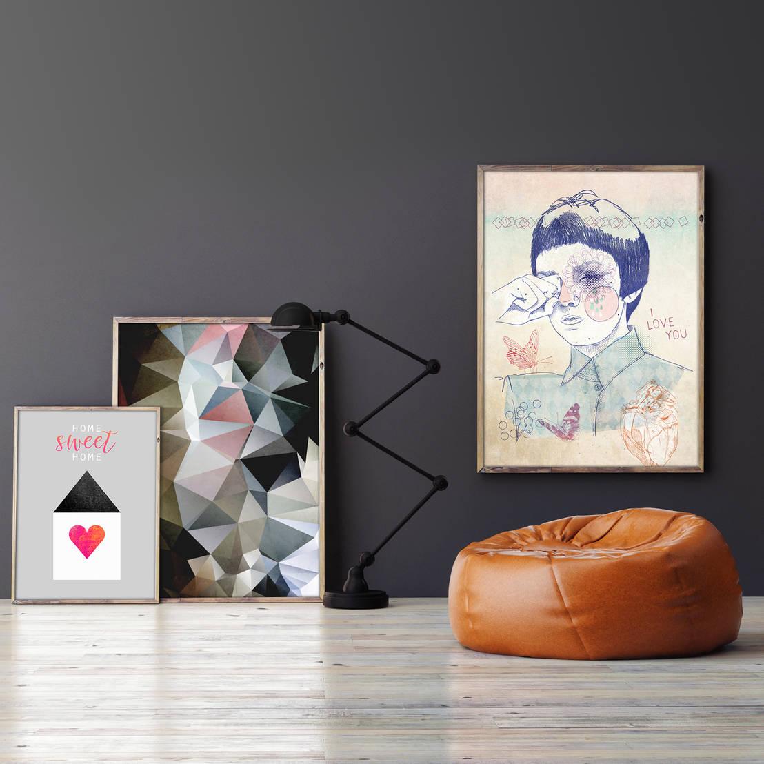 kreative wandgestaltung mit wandbildern von posterlounge homify. Black Bedroom Furniture Sets. Home Design Ideas