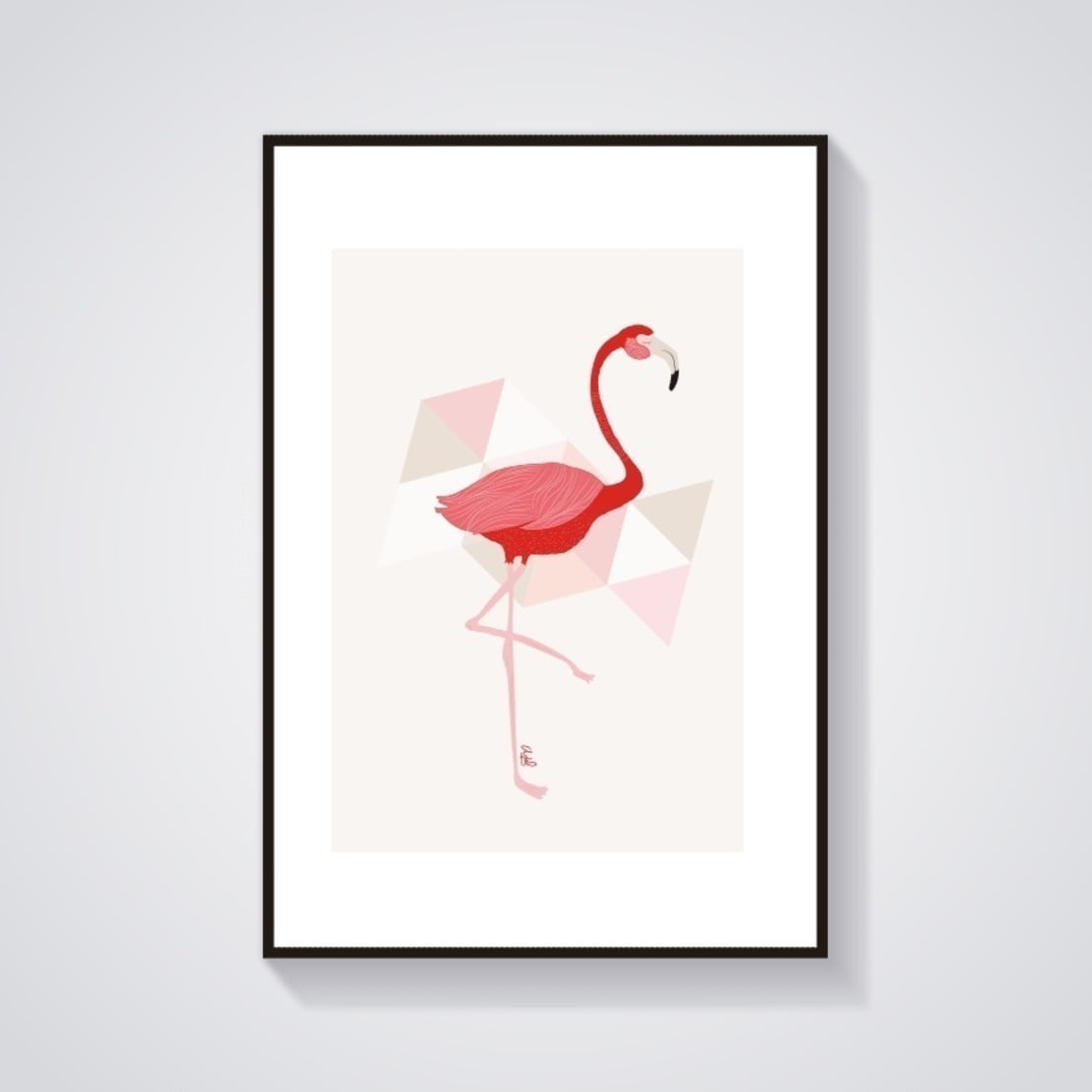 illustration flamant rose par adel fabric homify. Black Bedroom Furniture Sets. Home Design Ideas