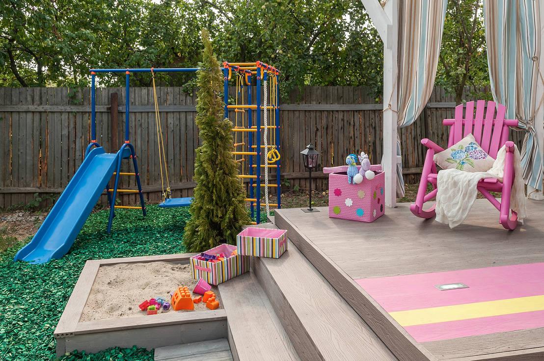 아이들을 위한 정원 놀이시설