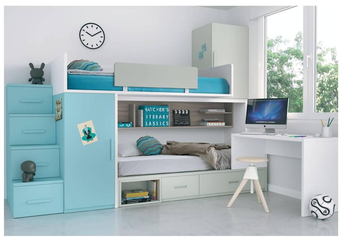 Camas cuchetas para todos los gustos y necesidades - Camas dormitorios infantiles ...