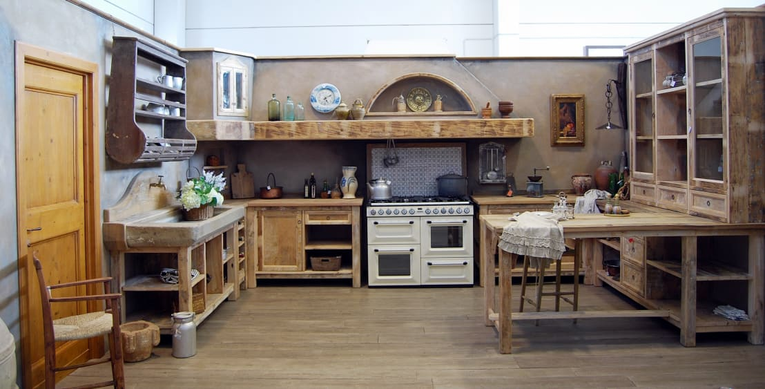7 incredibili cucine dallo stile country - Tende da cucina rustica ...