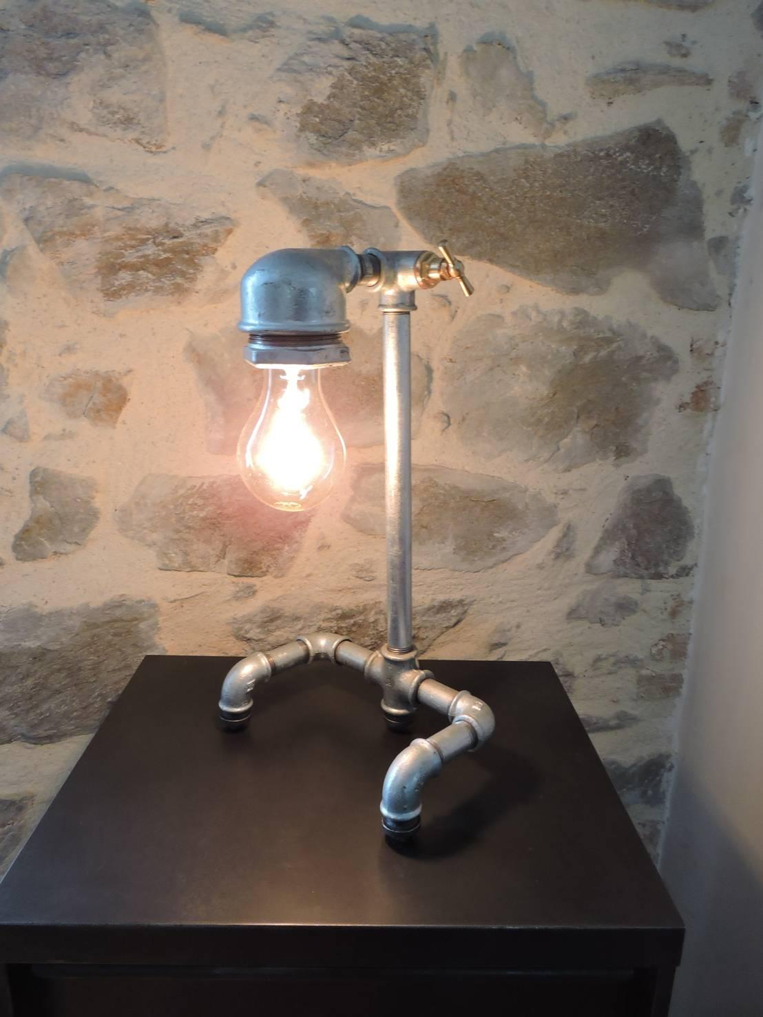lampe galva tuyau de plomberie by marceline homify. Black Bedroom Furniture Sets. Home Design Ideas