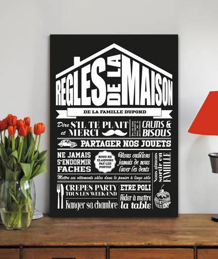 tableau personnalis regles de la maison by graphik spirit homify. Black Bedroom Furniture Sets. Home Design Ideas
