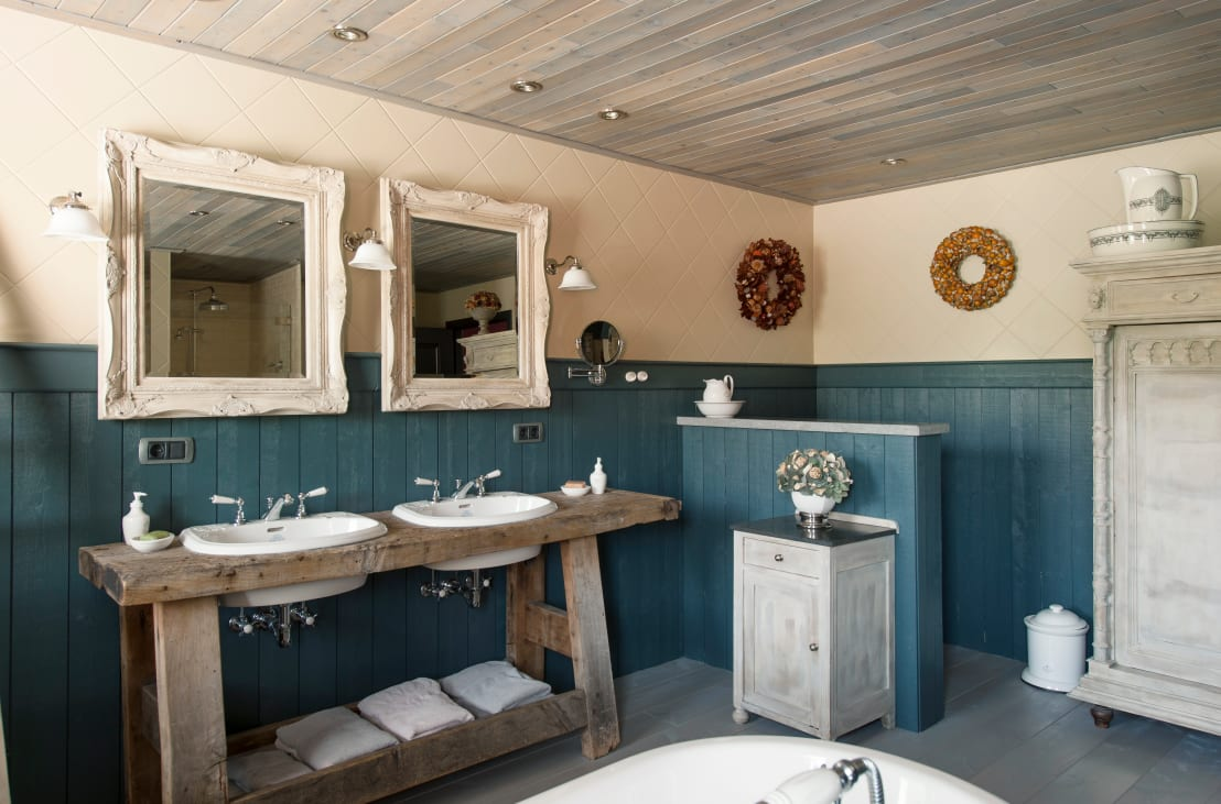 Badkamermeubel Van Steigerhout : Badkamermeubel steigerhout en beton bath in