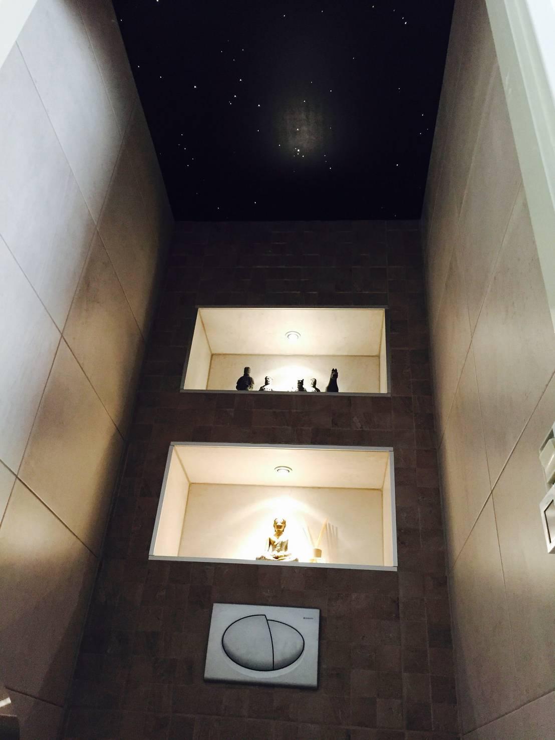 Wc Toiletten sterrenhemel plafond verlichting met glasvezel LED von ...