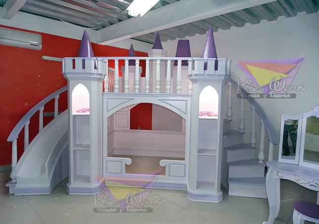 Recamaras para princesas de camas y literas infantiles kids world homify - Camas con tobogan para ninos ...