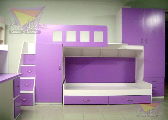 Literas y muebles juveniles de camas y literas infantiles kids world homify - Muebles shena literas ...