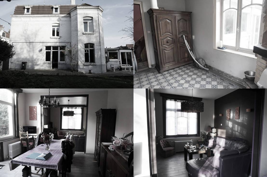 am nagement d un rez de chauss e d une maison individuelle par l d int rieur homify. Black Bedroom Furniture Sets. Home Design Ideas
