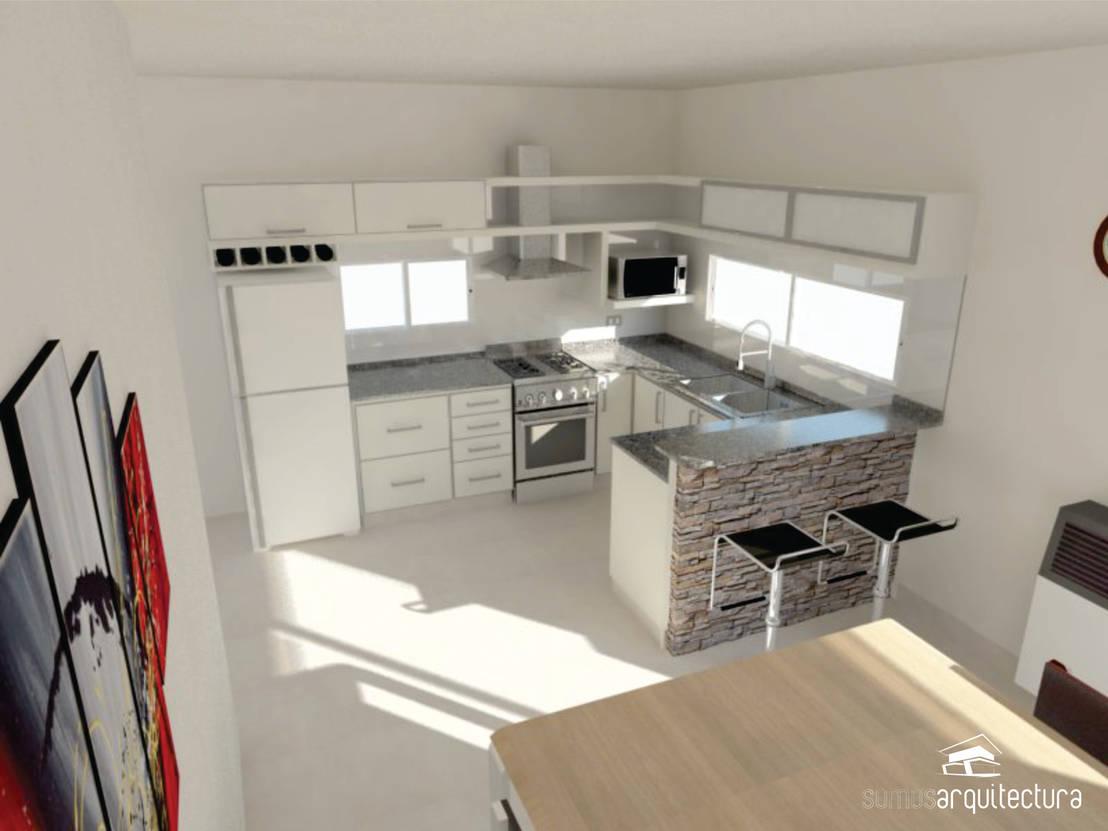 Dise o de cocina comedor de somos arquitectura homify for Disenos de cocinas comedor modernas