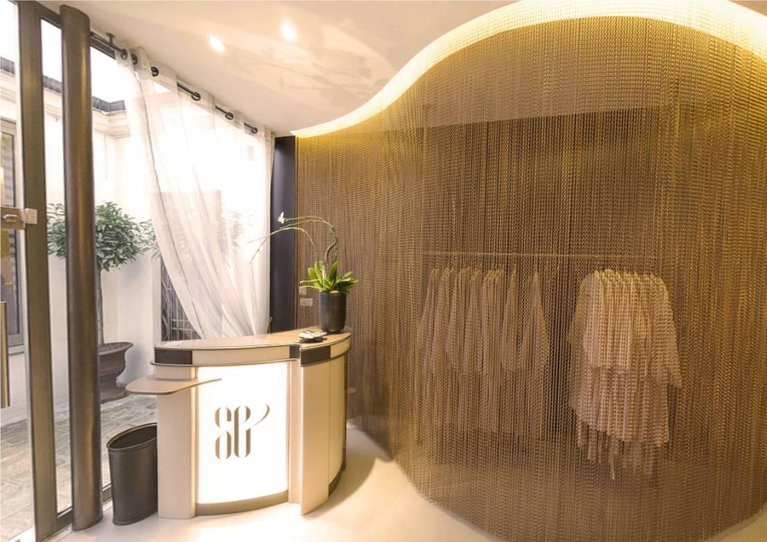 Meuble d 39 accueil salon de coiffure von atelier cr a - Meuble salon de coiffure ...
