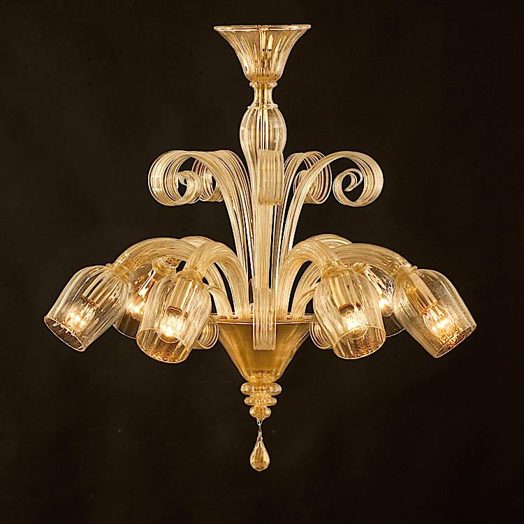 Lampadario in vetro di Murano - lampadario moderno in vetro ...
