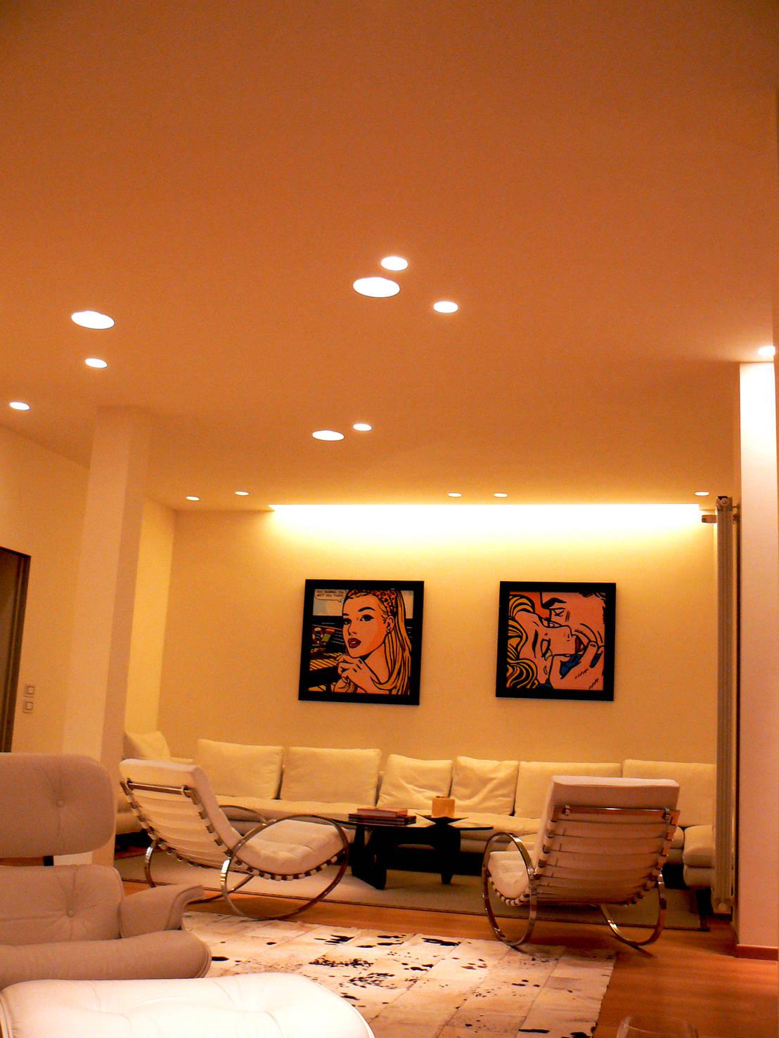 Usare la luce per arredare i faretti led a incasso - Illuminazione led soggiorno ...