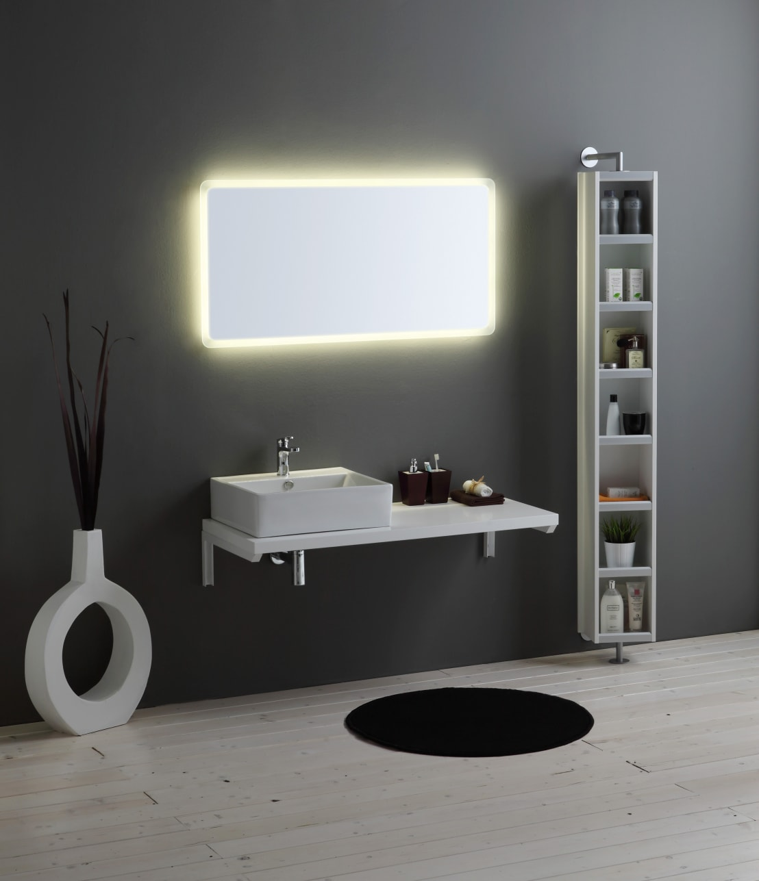 Mobili bagno linea brenta una linea arredo bagno modulare for Q in mobili bagno
