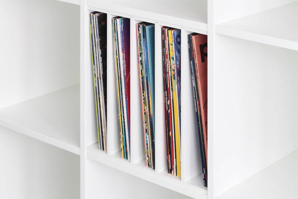 elegant - schallplatten einsatz für ikea expedit regal par nsd new