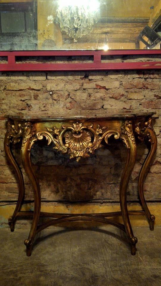 Antigua consola dressoire estilo frances luis xv de for Estilo luis xiv muebles