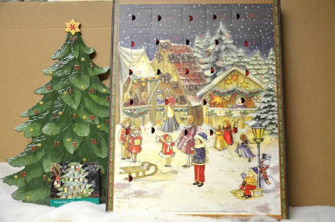 villeroy boch nostalgic ornaments adventskalender set 25 teilig neu von porzellanland. Black Bedroom Furniture Sets. Home Design Ideas