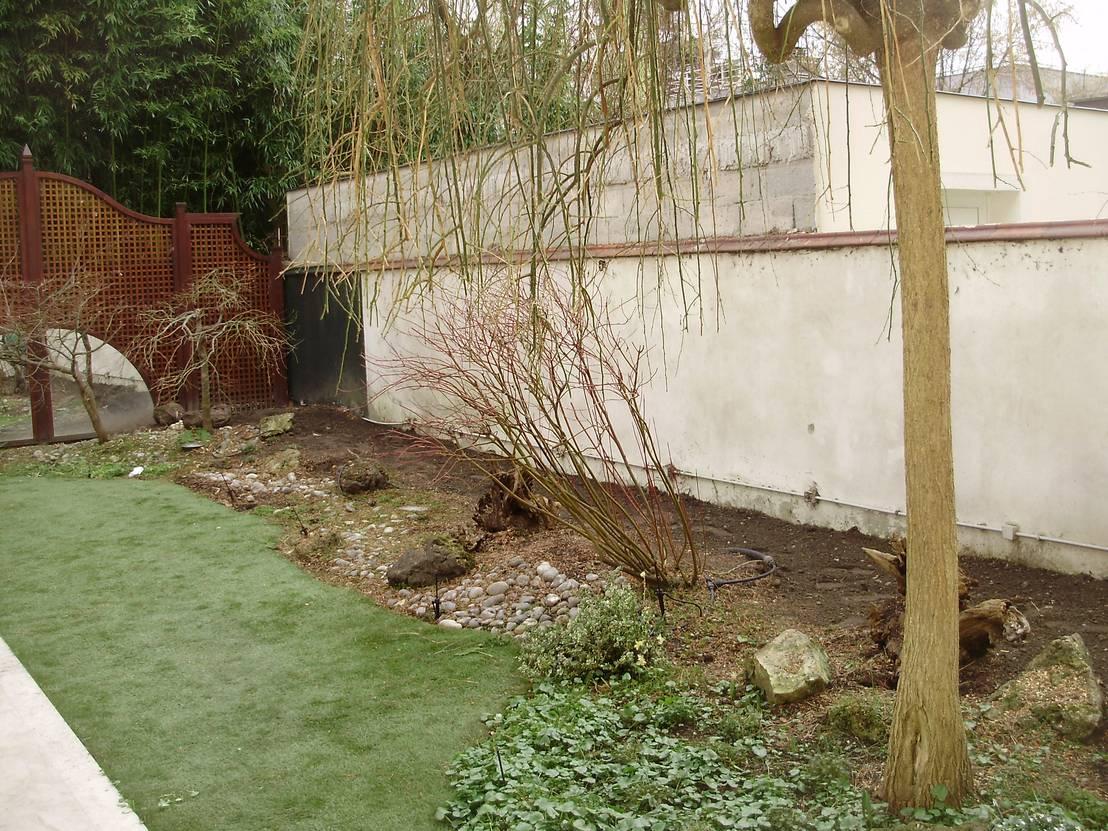 Avant apr s l 39 am nagement d 39 un jardin japonais qui va for Amenagement d un jardin zen