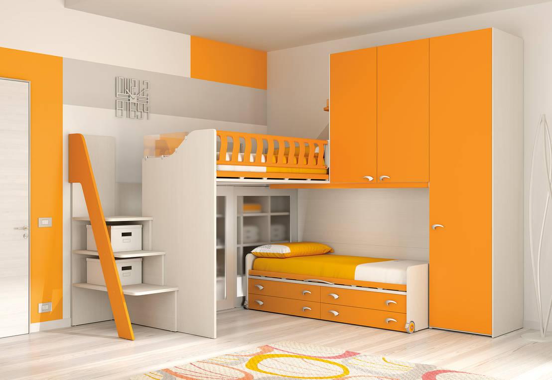 Soppalco ks114 di moretti compact homify for Arredamento camerette piccoli spazi