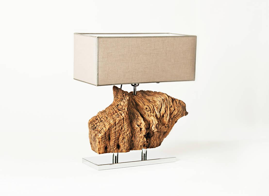Lampade in ulivo di radice in movimento homify for Tavolo in legno di ulivo
