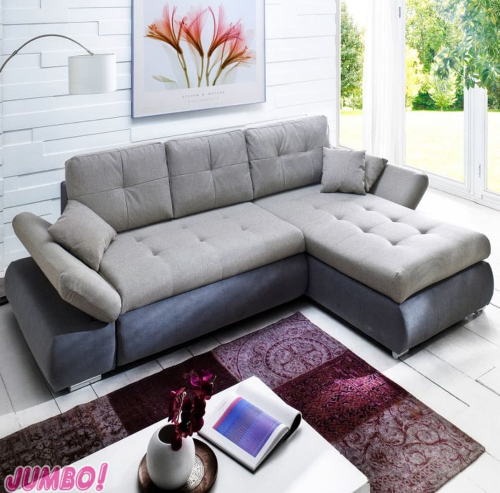 polstergarnitur zenzo in grau von jumbo discount homify. Black Bedroom Furniture Sets. Home Design Ideas