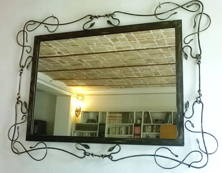Specchio brame in ferro battuto di la fucina degli for Specchio in ferro battuto