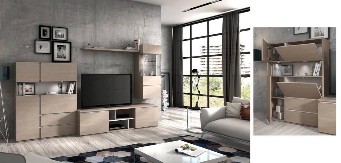 Salones modernos funcionalidad y dise o de merkamueble - Merkamueble en sevilla ...