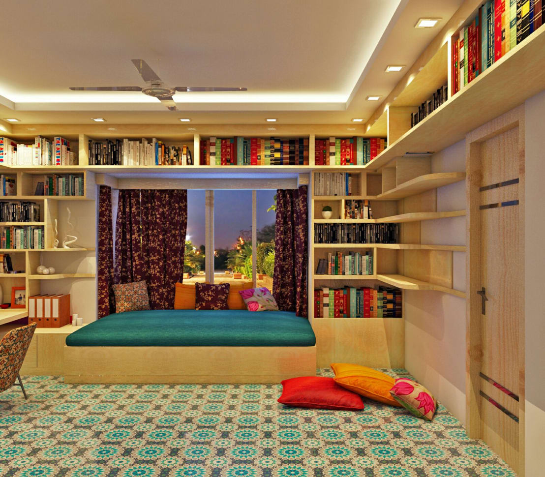A Stylish And Colourful Apartment In Kolkata