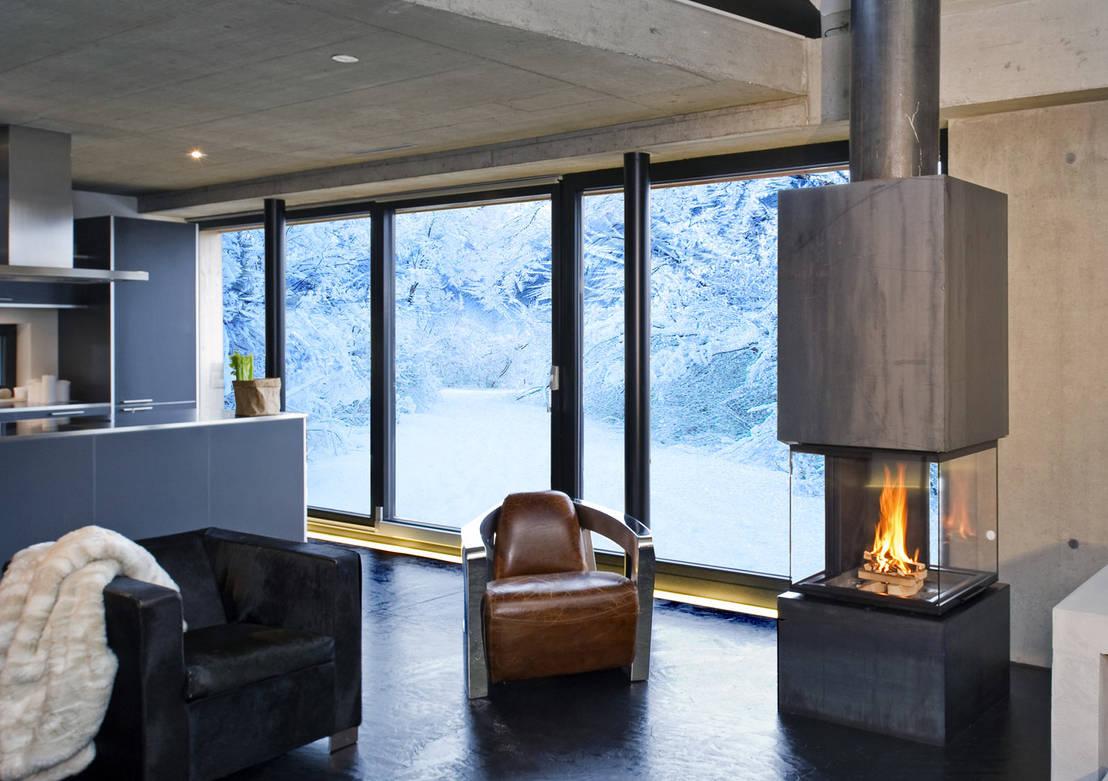 design kamin cubeo von r egg kamin studio erbshausen homify. Black Bedroom Furniture Sets. Home Design Ideas