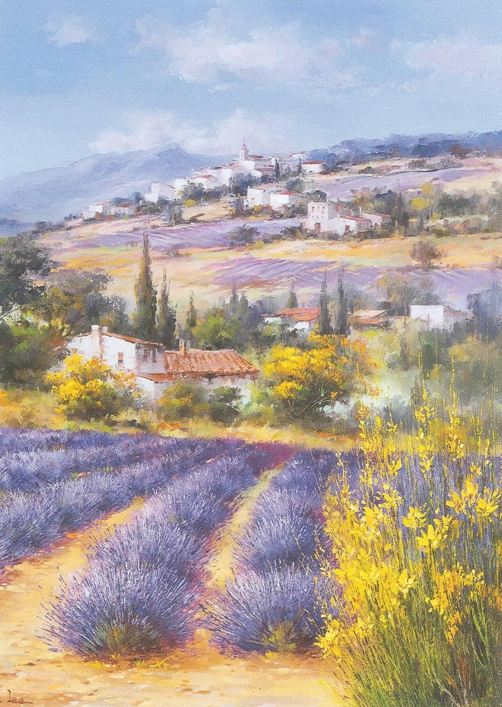 Ella Fort paysage en Provence vallée France peintures à l