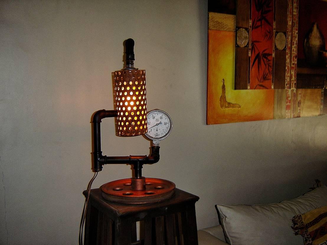 Lampara estilo industrial vintage con foco edison de vieja - Lamparas estilo vintage ...