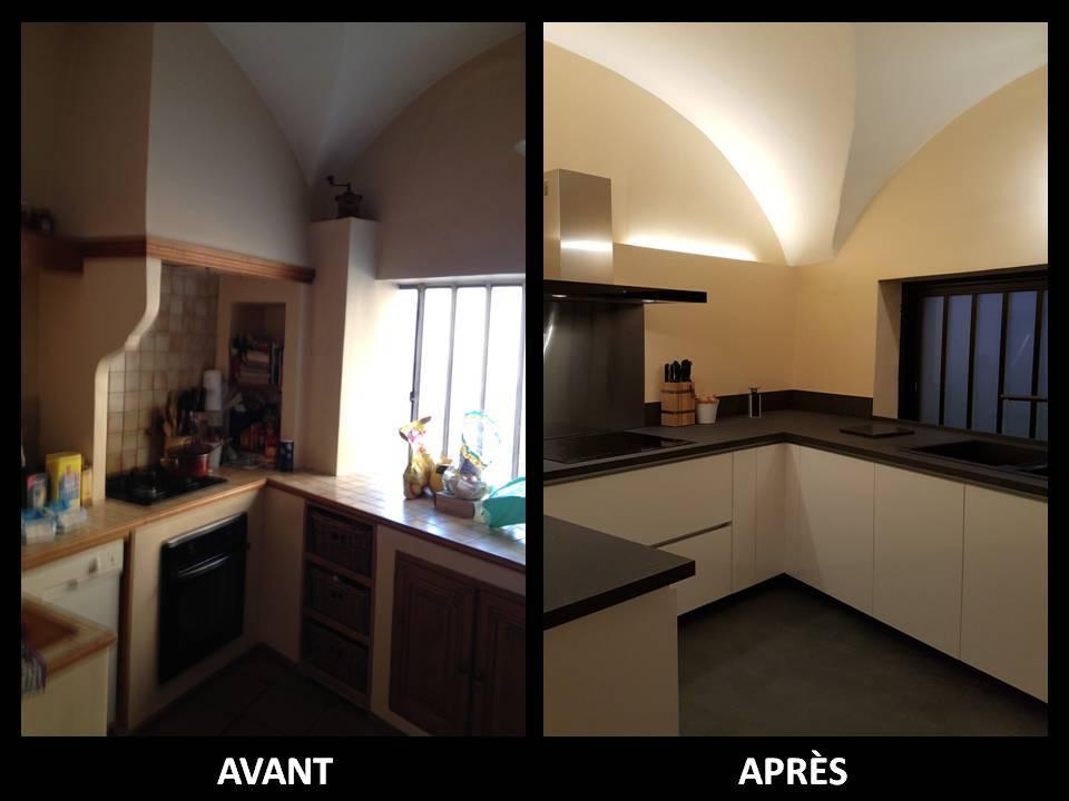 Transformation totale pour cette petite cuisine - Transformation cuisine ...