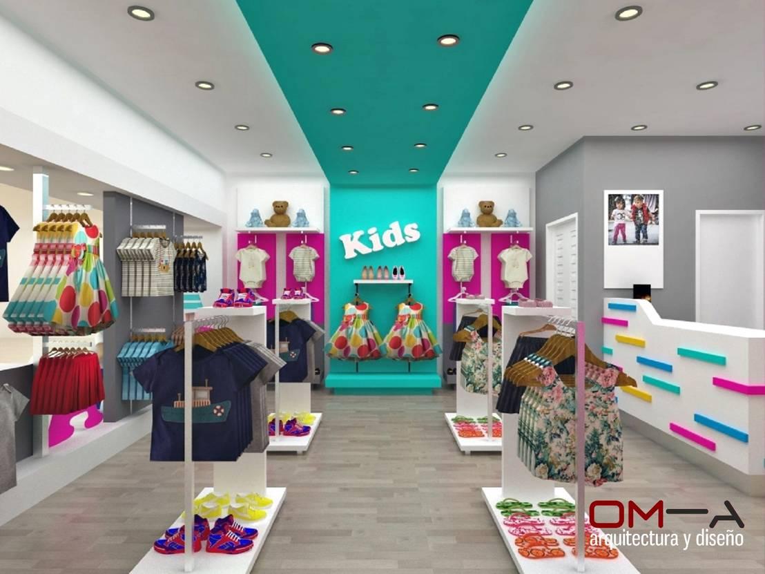 Dise o interior de tienda de ropa para ni os de om a for Disenos de interiores para boutique
