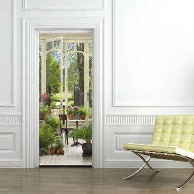 Trompe l 39 oeil pour porte jardin d 39 hiver par wall sweet - Oeil pour porte d entree ...