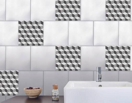 rlooker sont carrelage effet damier en 3d de wall sweet home plage sa homify. Black Bedroom Furniture Sets. Home Design Ideas