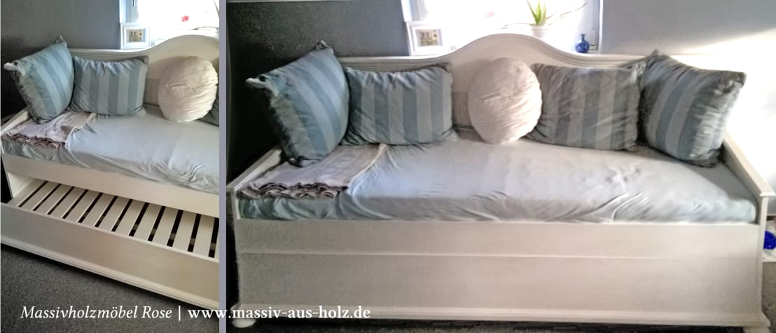 bett mit unterbett von massiv aus holz homify. Black Bedroom Furniture Sets. Home Design Ideas