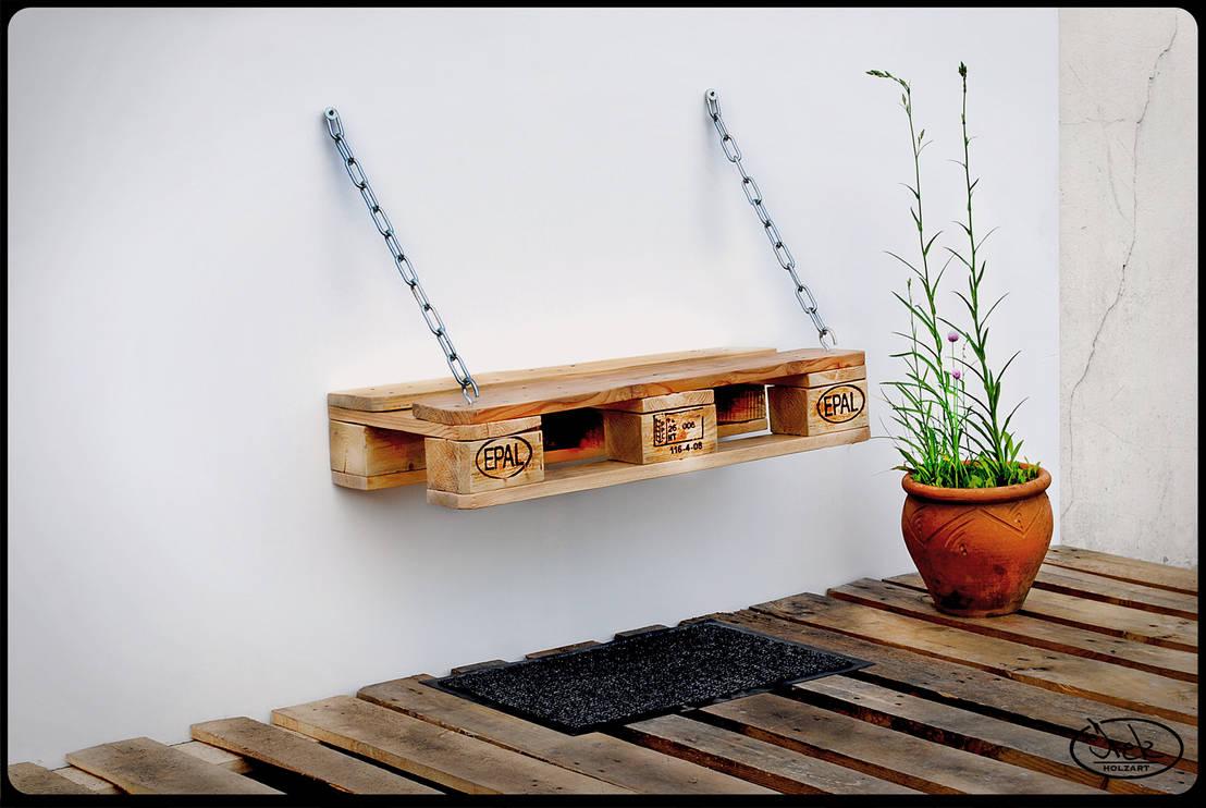 sitzbank auf ketten europaletten irekholzart von irekholzart homify. Black Bedroom Furniture Sets. Home Design Ideas