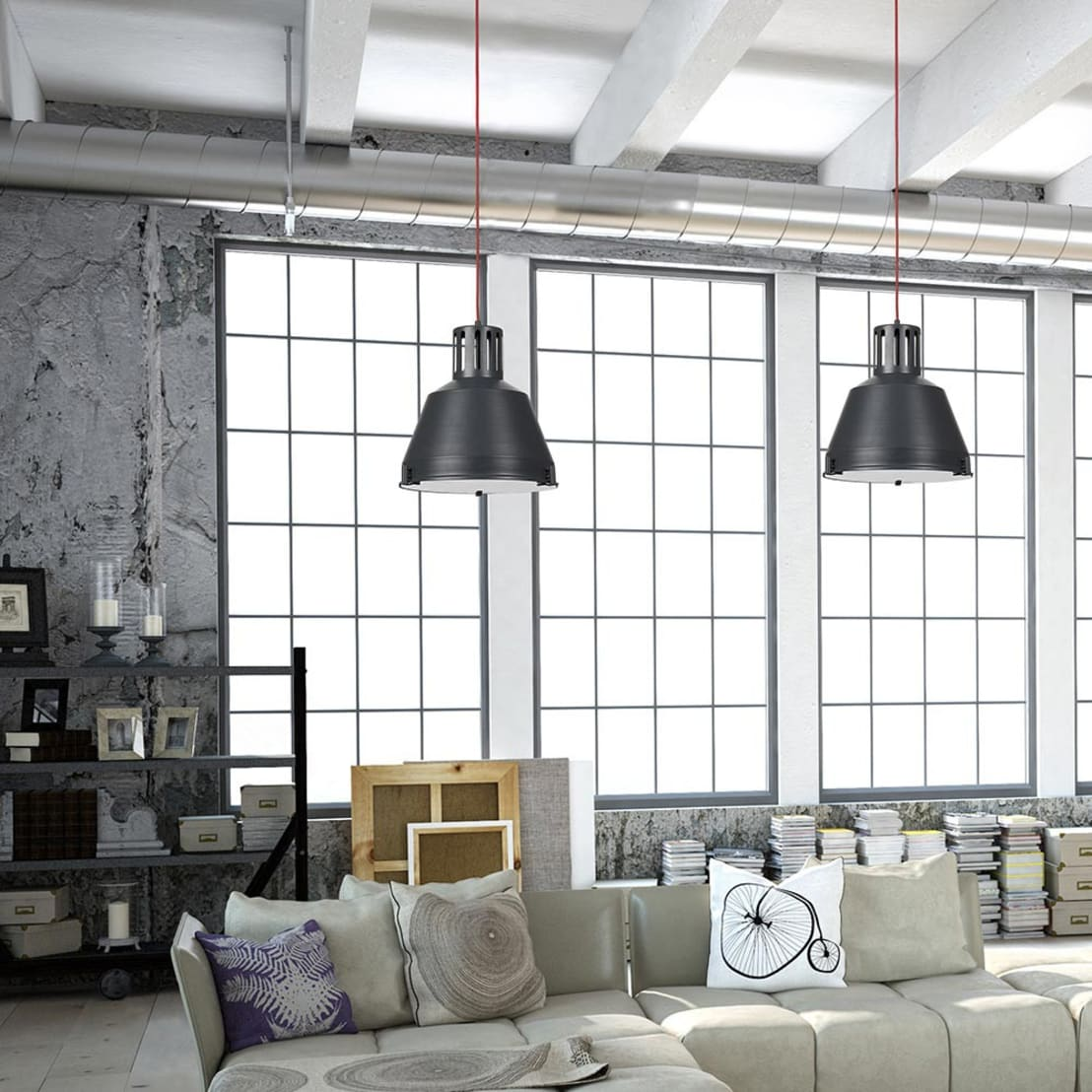 indust m pendelleuchte 33 cm im industrial stil. Black Bedroom Furniture Sets. Home Design Ideas