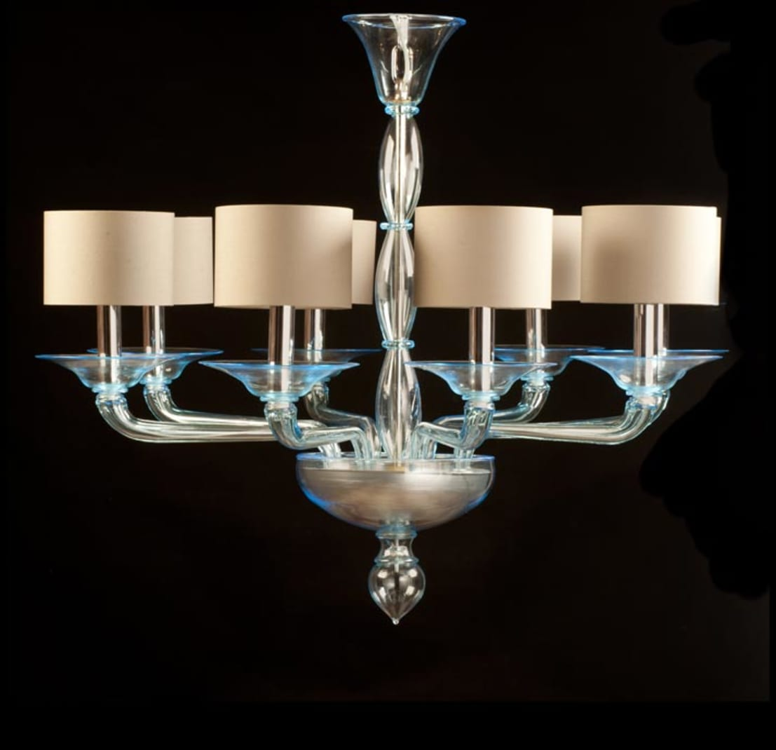 murano glass chandelier modern light blue glass chandelier foscarini by yourmurano lighting. Black Bedroom Furniture Sets. Home Design Ideas