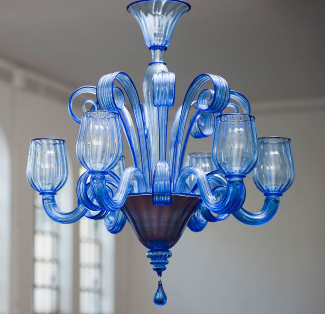 murano glass chandelier modern clear blue chandelier celsi by yourmurano lighting uk homify. Black Bedroom Furniture Sets. Home Design Ideas