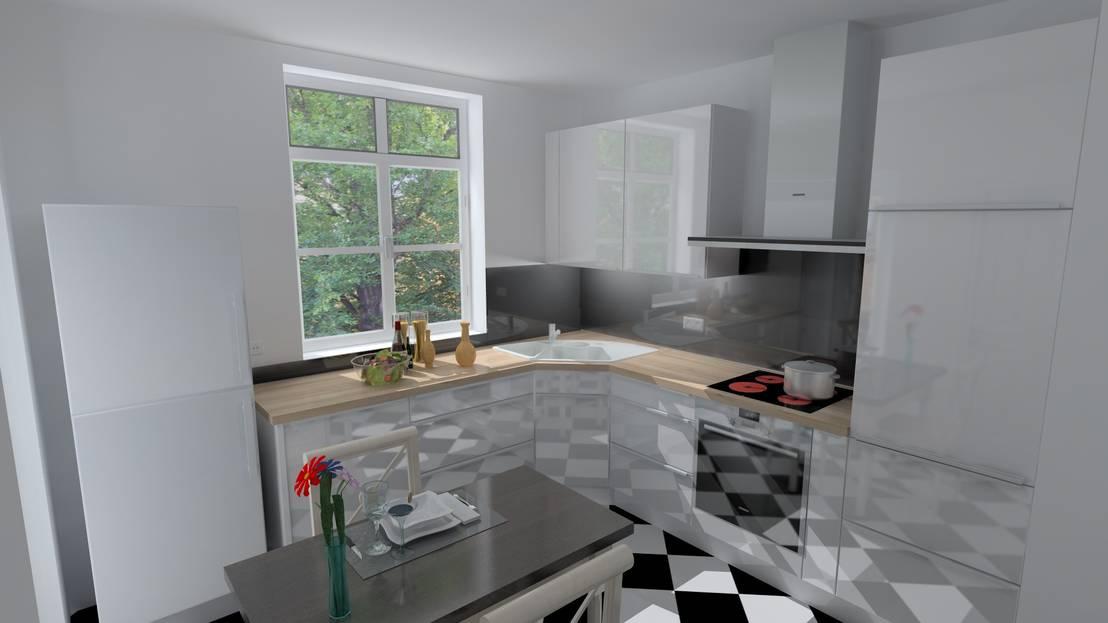 romantisch und modern von westend k chen homify. Black Bedroom Furniture Sets. Home Design Ideas