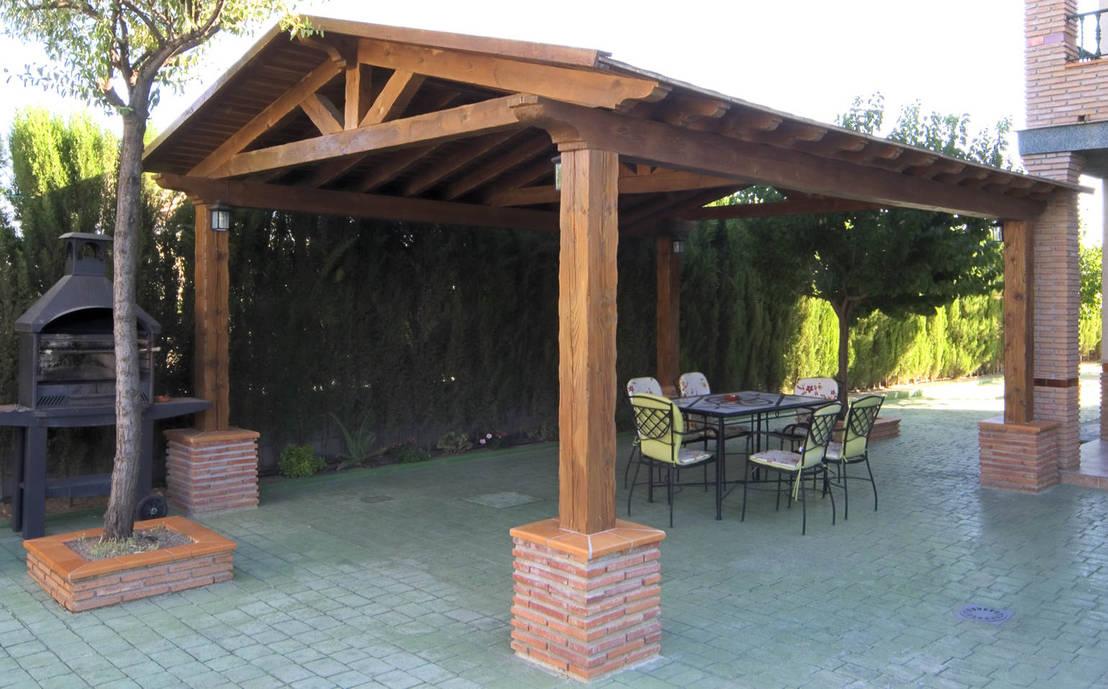 5 p rgolas bonitas e f ceis de construir for Modelos de terrazas rusticas