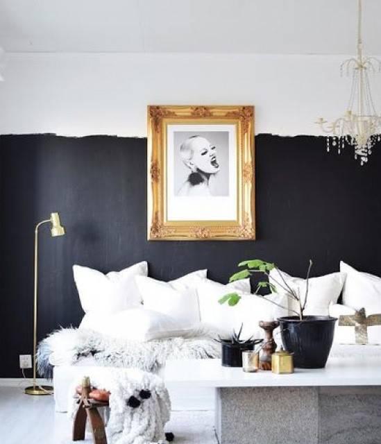 Pareti Pitturate A Fasce nuove tendenze: dipingere le pareti a metà in modo creativo