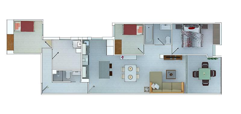 5 case moderne con planimetria per ispirarti for Idee planimetria casa