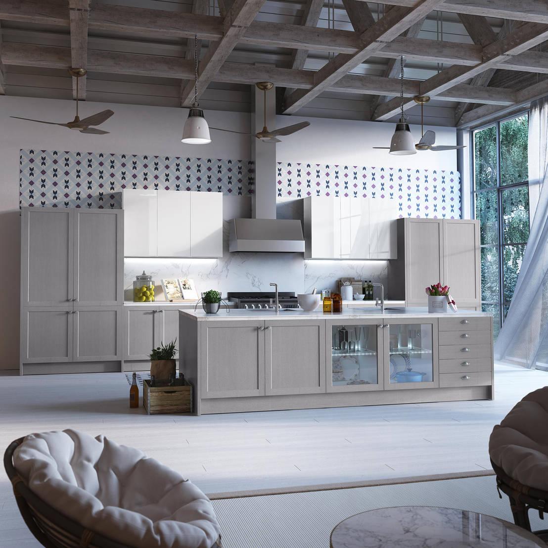 Cocinas estilo moderno r stico profesjonalista pino for Cocinas y banos modernos