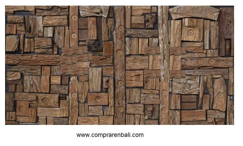 Mosaico de madera reciclada von ale debali study homify - Mosaico de madera ...